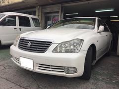沖縄の中古車 トヨタ クラウン 車両価格 30万円 リ済込 平成18年 17.9万K ホワイト
