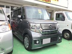 沖縄の中古車 ホンダ N BOXカスタム 車両価格 109万円 リ済込 平成26年 7.4万K グレー