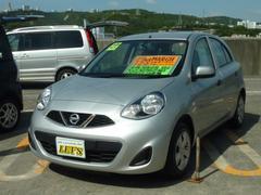 沖縄の中古車 日産 マーチ 車両価格 65万円 リ済別 平成27年 0.7万K ブリリアントシルバーM
