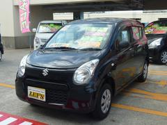 沖縄の中古車 スズキ アルト 車両価格 59万円 リ済別 平成26年 6.6万K ブルーイッシュブラックパール3
