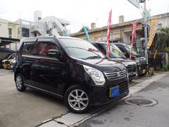 沖縄の中古車 スズキ ワゴンR 車両価格 67万円 リ済込 平成25年 7.7万K ブラックM