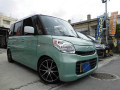 沖縄の中古車 スズキ スペーシア 車両価格 95万円 リ済込 平成27年 1.2万K LグリーンII