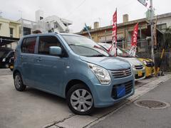 沖縄の中古車 スズキ ワゴンR 車両価格 47万円 リ済込 平成25年 7.0万K ライトブルーM