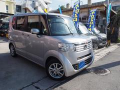 沖縄の中古車 ホンダ N BOX 車両価格 96万円 リ済込 平成27年 8.5万K シルバーメタリック