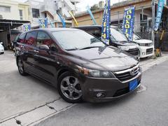 沖縄の中古車 ホンダ ストリーム 車両価格 35万円 リ済込 平成18年 8.2万K ライトゴールドM