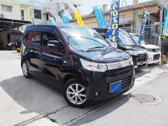 沖縄の中古車 スズキ ワゴンRスティングレー 車両価格 86万円 リ済込 平成25年 2.6万K ブルーイッシュブラックパール3
