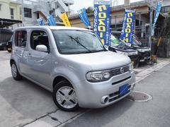 沖縄の中古車 日産 キューブ 車両価格 55万円 リ済込 平成18年 3.4万K ライトグレーM
