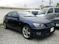 沖縄の中古車 トヨタ アルテッツァ 車両価格 45万円 リ済込 平成16後 15.6万K ダークブルー