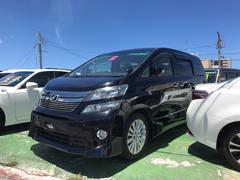 沖縄の中古車 トヨタ ヴェルファイア 車両価格 187万円 リ済込 平成23後 9.7万K ブラック