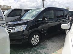 沖縄の中古車 ホンダ ステップワゴン 車両価格 89万円 リ済込 平成24年 10.9万K ブラック