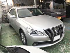 沖縄の中古車 トヨタ クラウンハイブリッド 車両価格 225万円 リ済込 平成25年 9.0万K シルバー