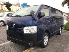 沖縄の中古車 トヨタ ハイエースバン 車両価格 217万円 リ済込 平成28年 7.8万K ダークブルー