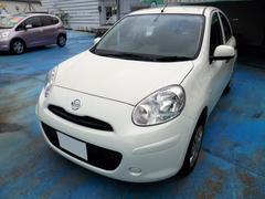 沖縄の中古車 日産 マーチ 車両価格 45万円 リ済込 平成24年 7.1万K パールホワイト