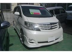 沖縄の中古車 トヨタ アルファードV 車両価格 98万円 リ済込 平成18年 11.7万K パール