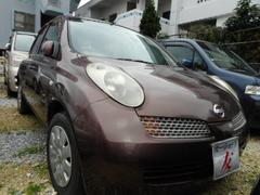 沖縄の中古車 日産 マーチ 車両価格 23万円 リ済込 平成16年 12.0万K ブラウン
