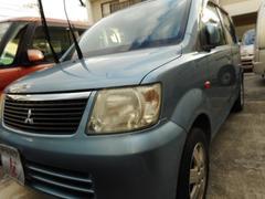 沖縄の中古車 三菱 eKワゴン 車両価格 24万円 リ済込 平成18年 8.0万K ライトブルーM