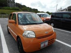 沖縄の中古車 ダイハツ エッセ 車両価格 25万円 リ済込 平成18年 5.5万K オレンジ