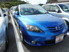 沖縄の中古車 マツダ アクセラスポーツ 車両価格 25万円 リ済込 平成16年 8.9万K ブルー