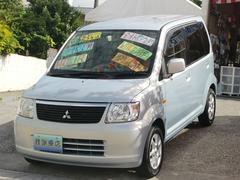 沖縄の中古車 三菱 eKワゴン 車両価格 18万円 リ済込 平成18年 8.5万K ライトブルーM
