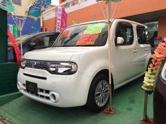 沖縄の中古車 日産 キューブ 車両価格 69万円 リ済込 平成24年 7.0万K ホワイト