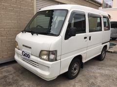 沖縄市 オートプラザ Step スバル サンバーバン  ホワイト 18.5万K 平成14年