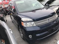 沖縄の中古車 トヨタ ヴォクシー 車両価格 58万円 リ済込 平成19年 9.0万K ダークブルー