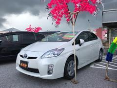沖縄の中古車 トヨタ プリウス 車両価格 78万円 リ済込 平成21年 9.5万K パールホワイト