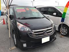 沖縄の中古車 ホンダ ステップワゴン 車両価格 75万円 リ済込 平成21年 8.7万K ブラックM