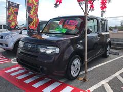 沖縄の中古車 日産 キューブ 車両価格 26万円 リ済込 平成20年 12.5万K ブラウン
