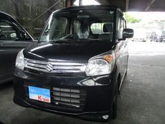 沖縄の中古車 スズキ スペーシア 車両価格 109万円 リ済込 平成27年 3.1万K ブルーイッシュブラックパール3