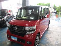 沖縄の中古車 ホンダ N BOXカスタム 車両価格 125万円 リ済込 平成27年 0.3万K レッド/ブラックII