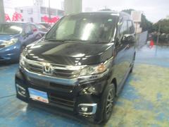 沖縄の中古車 ホンダ N−WGNカスタム 車両価格 115万円 リ済込 平成28年 2.6万K ブラック