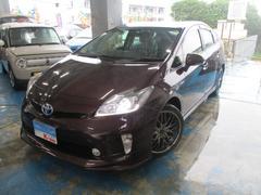 沖縄の中古車 トヨタ プリウス 車両価格 119万円 リ済込 平成25年 6.3万K ダークパープルM