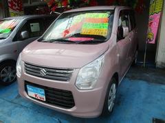 沖縄の中古車 スズキ ワゴンR 車両価格 55万円 リ済込 平成25年 6.0万K ピンク