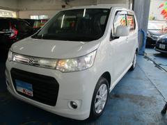 沖縄の中古車 スズキ ワゴンRスティングレー 車両価格 69万円 リ済込 平成25年 6.0万K パールホワイト