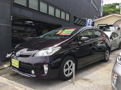 沖縄の中古車 トヨタ プリウス 車両価格 99万円 リ済込 平成24年 7.7万K ダークパープル