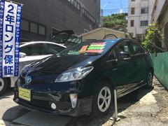 沖縄の中古車 トヨタ プリウス 車両価格 124万円 リ済込 平成26年 8.1万K ブラック
