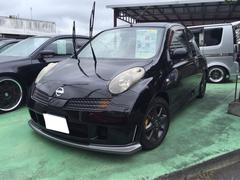 沖縄の中古車 日産 マーチ 車両価格 45万円 リ済別 平成15年 15.0万K スーパーブラック