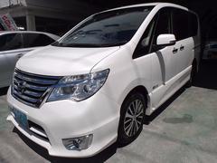 沖縄の中古車 日産 セレナ 車両価格 188万円 リ済込 平成27年 5.7万K パールホワイト