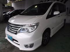 沖縄の中古車 日産 セレナ 車両価格 185万円 リ済込 平成26年 4.5万K パールホワイト