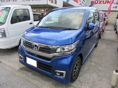 沖縄の中古車 ホンダ N−WGNカスタム 車両価格 141万円 リ済別 平成29年 5K ダークブルー