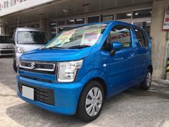 宜野湾市 長浜モーター(有) スズキ ワゴンR ハイブリッドFX 届出済未使用車 ブルー 877K 平成29年