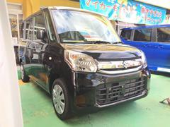 沖縄の中古車 スズキ スペーシア 車両価格 130万円 リ済込 平成29年 3K ブラック