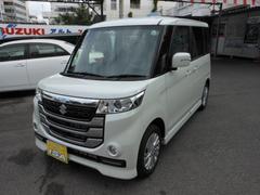 沖縄の中古車 スズキ スペーシアカスタムZ 車両価格 149万円 リ未 新車  パールホワイト