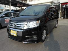 沖縄の中古車 ホンダ ステップワゴンスパーダ 車両価格 168万円 リ済込 平成24年 7.9万K ブラックM