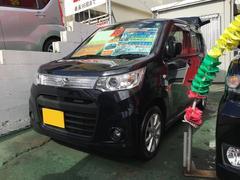 沖縄の中古車 スズキ ワゴンRスティングレー 車両価格 64万円 リ済別 平成25年 8.5万K ブラック