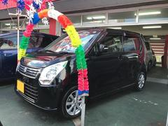 沖縄の中古車 スズキ ワゴンR 車両価格 64万円 リ済別 平成25年 7.0万K ブラック