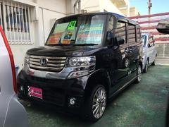 沖縄の中古車 ホンダ N BOXカスタム 車両価格 84万円 リ済別 平成24年 8.8万K ブラック