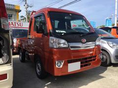 沖縄の中古車 ダイハツ ハイゼットトラック 車両価格 99万円 リ済込 平成29年 32K イエロー