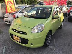 沖縄の中古車 日産 マーチ 車両価格 53万円 リ済別 平成23年 4.1万K Lグリーン